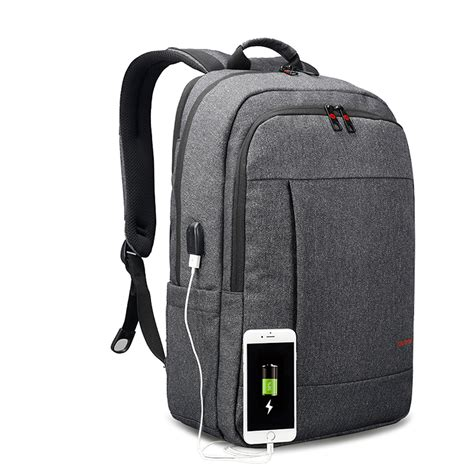 Mairu 0219 Smart Backpack Usb Port Charger Free Powerbank Grey Anti Theft Business Laptop Backpack With Usb Charging Port