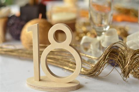 Table Numbers For Weddings by 1 20 Wooden Table Numbers Wedding Gold Table Numbers Wedding