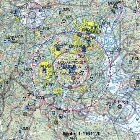 washington sectional chart when and why is air space restricted