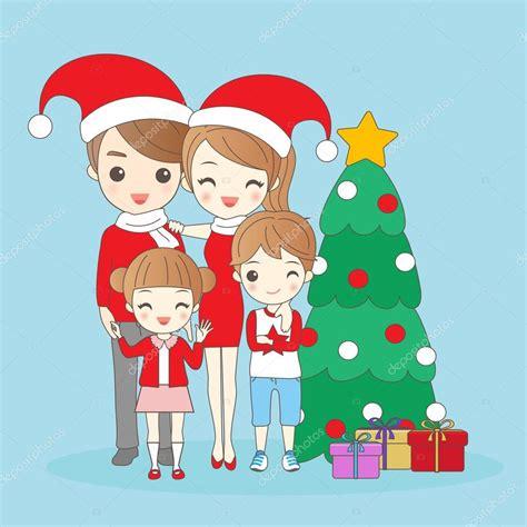 imagenes de navidad en familia familia de dibujos animados de navidad archivo im 225 genes