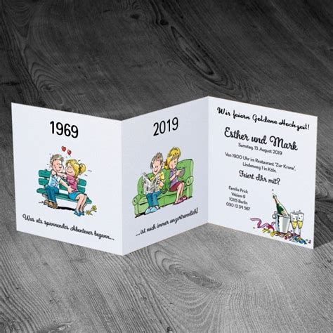 Lustige Einladungskarten Hochzeit by Lustige Einladungskarte Zu Ihrer Goldenen Hochzeit