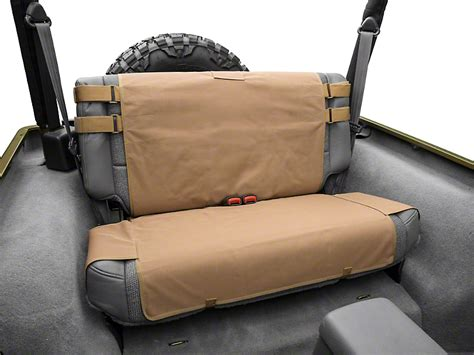 smittybilt gear seat covers tj smittybilt wrangler g e a r rear seat cover coyote