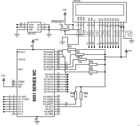 eeprom circuit diagram eeprom working interfacing with microcontrollers