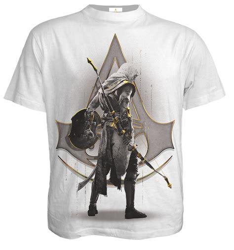 T Shirt Assasin spiral origins bayek white assassins creed t shirt