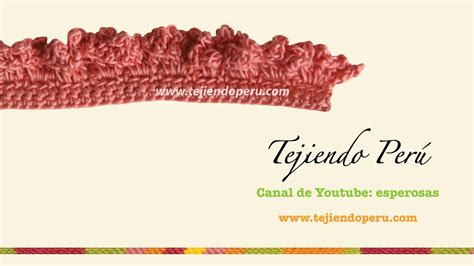 cenefas crochet cenefa para aplicar en crochet 6 tejida a crochet youtube