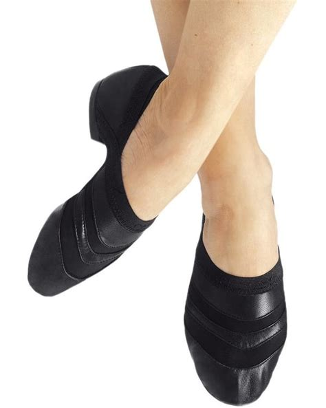 capezio ff05 freeform leather slip on jazz shoes womens