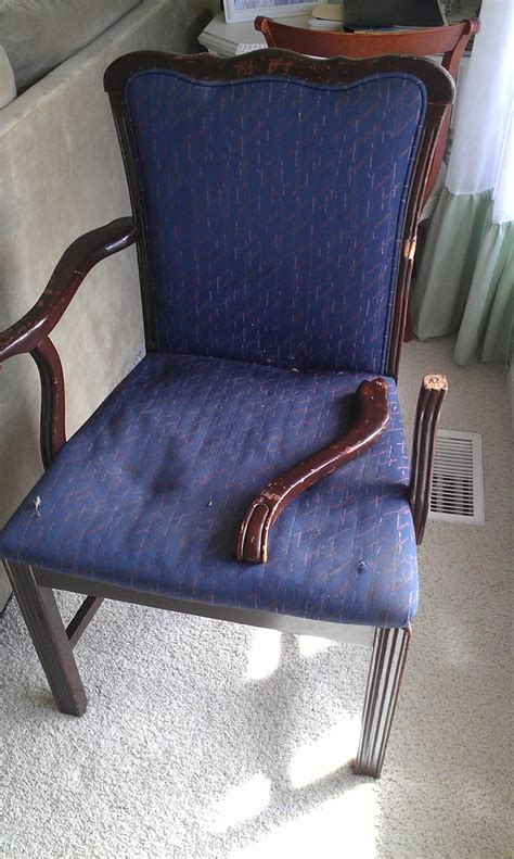 recliner broken thrifty treasures how to fix a broken chair arm diy