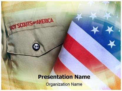 Boy Scouts Powerpoint Template Background Subscriptiontemplates Com Boy Scout Powerpoint Template