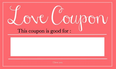 boyfriend coupons template s day coupons