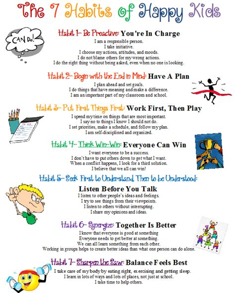 Pdf 7 Habits Happy by 7 Habits Of Happy Counselor S Corner Mrs Neese