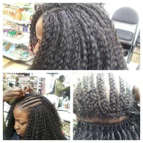 crochet style on balding hair crochet braid done by jay s hair braiding bronx ny black