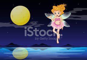fairy boat near me fairy near the moon stock vectors clipart me