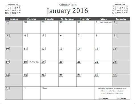 2016 monthly wall planner printable 2016 calendar templates and images