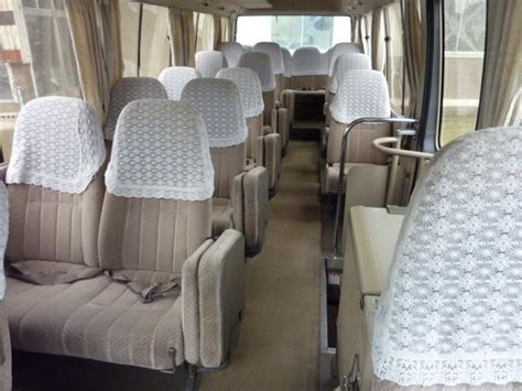 seater toyota van hire india toyota coaster van rental service delhi
