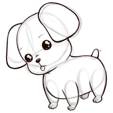 puppies drawing the second step till the end of quot lusie quot the anime puppy drawings chibi