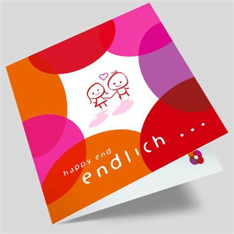 Hochzeitseinladungen Rot by Hochzeitseinladung Zwei Menschen Pink Rot Orange