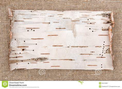How To Make Birch Bark Paper - birch bark on burlap background stock image image 35412867