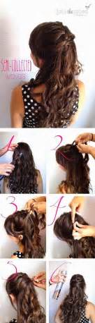 hairstyles for curly medium hair step by step fashionable half up half down hairstyles hair tutorials