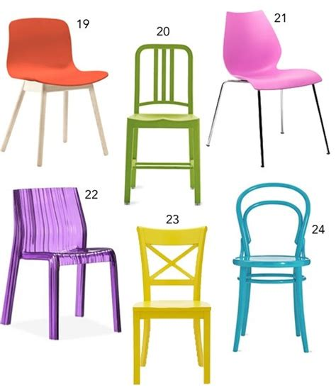 colorful folding chairs get the look 30 colorful dining chairs stylecarrot