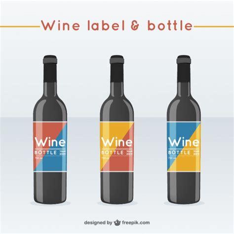 Weinflaschen Etiketten by Weinflaschen Mit Etiketten Download Der Kostenlosen Vektor