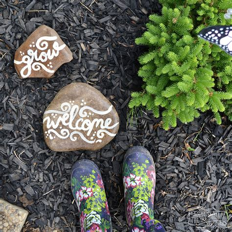 Painted Rocks For Garden Make Painted Rock Garden Markers The Diy