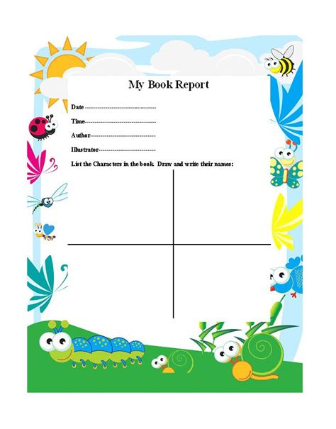Book Reports Elementary by Book Report Elementary 30 Book Report Templates Reading