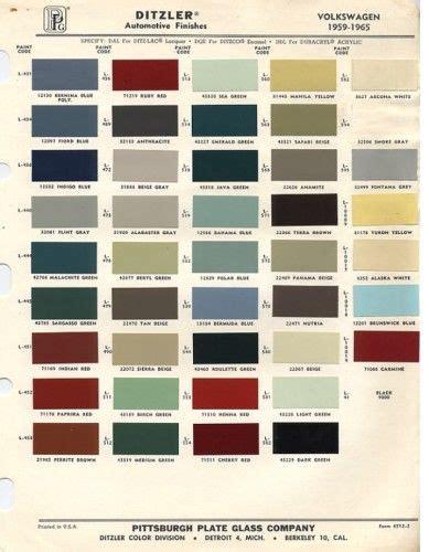 original vw beetle paint schemes vw beetles paint and