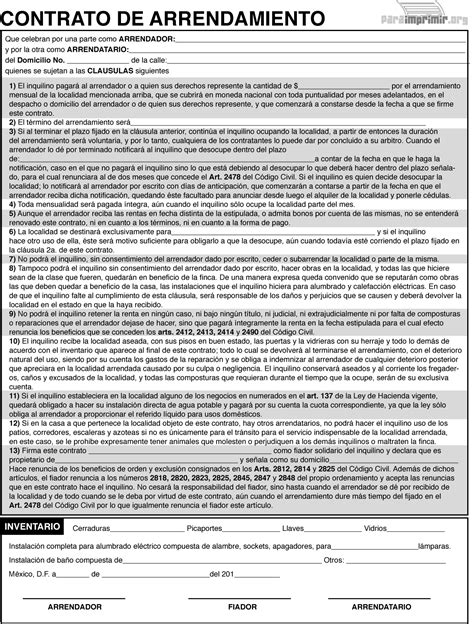 contrato de arrendamiento mexico 1000 images about contratos de alquiler on pinterest