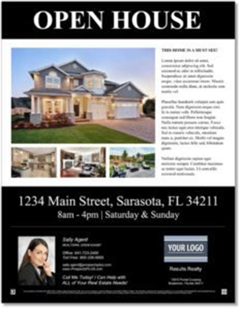 open house template free open house flyer templates customize