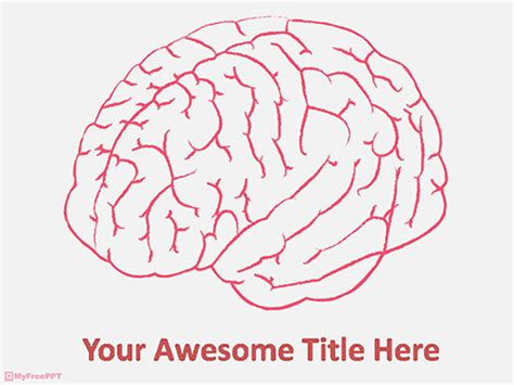 brain template free powerpoint templates myfreeppt
