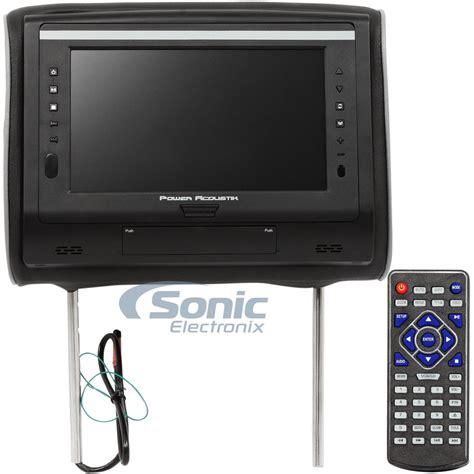 Headrest Monitor Led power acoustik hdvd 94 single 9 quot led headrest monitor w dvd player ebay