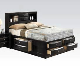 beds ireland storage bed black af 21610q 7 ba stores