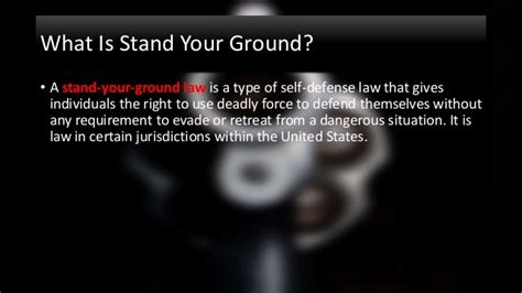Stand Your Ground Law Oklahoma by Stand Your Ground Gun Control Presentation