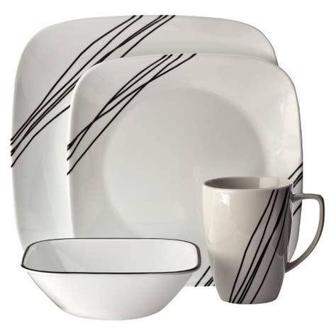 corelle squared pattern dinnerware corelle 174 square 16pc dinnerware set simple sketch target