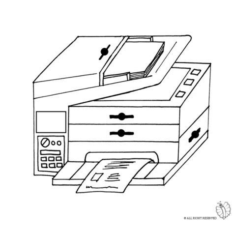 fotocopiatrice da ufficio disegno di fotocopiatrice da colorare per bambini