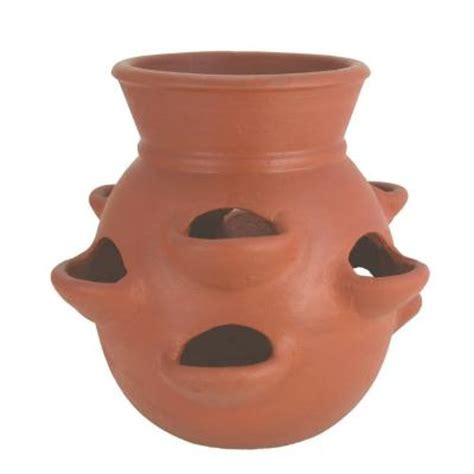 pr imports 15 in terra cotta clay strawberry planter
