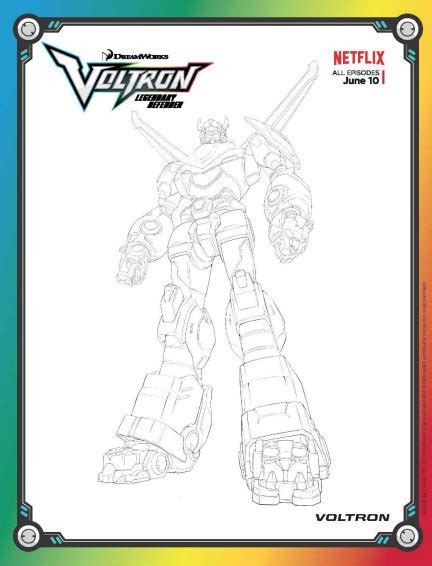 voltron legendary defender colouring voltron