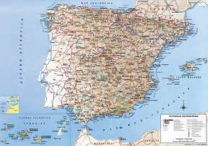 Spain Map With Cities by Map Of Spain With Cities Road Map Of Spain With Relief