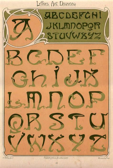 le mulier lettere 115 best images about nouveau lettering on