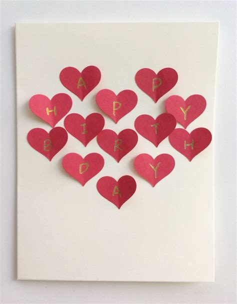 make bake and love happy new home gift idea red heart collage handmade 3d postcard card romantic gift for