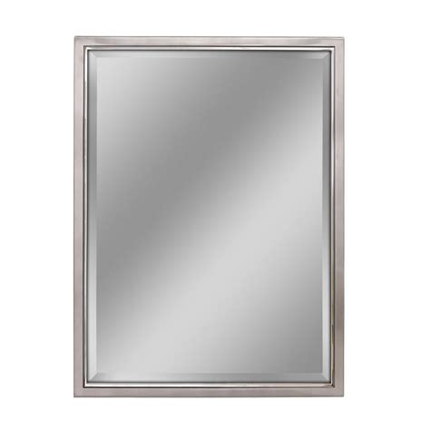 metal framed bathroom mirrors deco mirror 30 in w x 36 in h spectrum metal framed wall