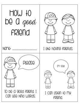 quot how to be a good friend quot writing pages worksheets by