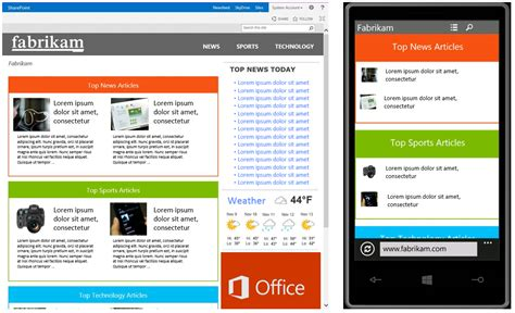 sharepoint responsive template create your brand with a combination of sharepoint