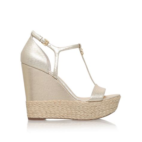 michael kors high heel sandals michael kors kerri wedge high heel wedge sandals in