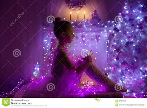 purple christmas tree lights