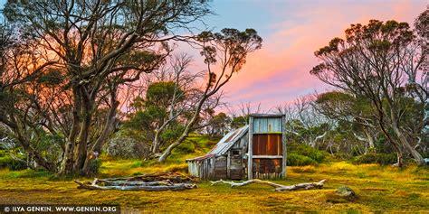 wallaces hut  sunset falls creek victoria australia