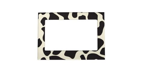 cow pattern frame cow skin cow pattern magnetic frame zazzle