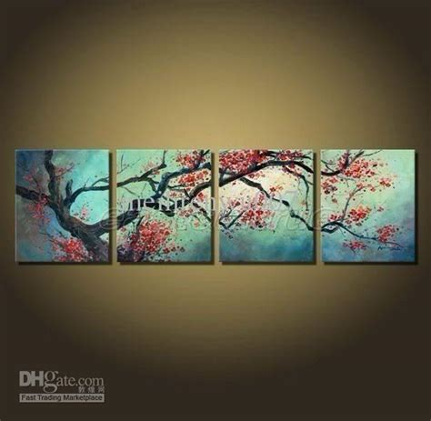 painting decor 2017 modern wall decor cherry blossom art paintings framed