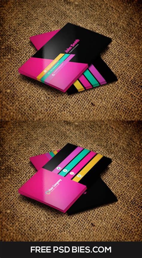 multicolor chevron bussiness card template multi color business card template by designhub719 on
