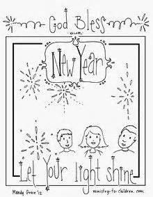 christian coloring pages for new years new year s coloring sheets quot god bless our new year